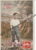 CPA - Fêtes - Voeux > Bonne Fête - Enfant Avec Bouquet - Décor Moisson - Holidays & Celebrations