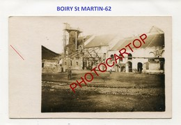 BOIRY ST MARTIN-Sucrerie-CARTE PHOTO Allemande-Guerre 14-18-1WK-France-62-Militaria- - France