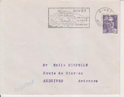 1954 France 08 Ardennes Givet Flamme 'Vestiges Du Passe' - Tourisme' - Postmark Collection (Covers)