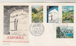 ANDORRE Espagnol - FDC 1972 - Vues - Spanish Andorra