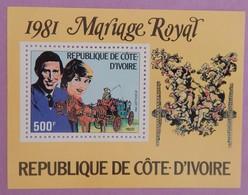 """COTE D IVOIRE ANNEE 1981"""" MARIAGE ROYAL"""" BLOC 18 NEUFS(**) - Ivory Coast (1960-...)"""
