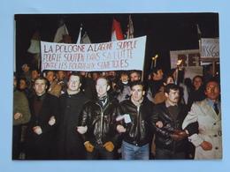 Carte Postale : SOLIDARNOSC Manifestation Pour La POLOGNE, Le 16 Décembre 1981, La Pologne à L'agonie... - Eventi