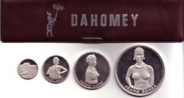 DAHOMEY ( Benin ) - Proof Set 1971 (4 Silver Coins) - KM#PS2 Original Holder - Benin