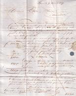 PARIS , SOMME - LETTRE TYPE COMMERCIAL POUR MR BOR , PHARMACIEN A AMIENS  - 1839 - France