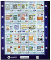 ECUADOR 2015 STAMP ON STAMP VERY LARGE SHEET BOAT BEAR BIRD PLANE MNH S11566-6 - Stamps On Stamps