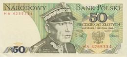 Banknote Poland 50 Zloty - Karol Swierczewski - Coat Of Arms - 1988 - Polen