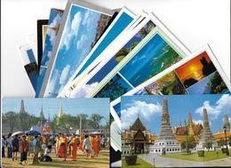 Asie  THAILAND Thaïlande   Lot De 24 Cartes Cpm -scans R / V  24 Cartes - TIMBRE STAMP THAILAND - Thaïlande