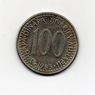 Jugoslavia - 1985 - 100 Dinara - Vedi Foto - (MW1622) - Jugoslavia