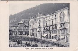 LEYSIN HOTEL DU MONT BLANC ET LA GARE    AUTENTICA 100% - VD Vaud
