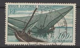 Afrique Equatoriale Française : Poste Aérienne N° 59 - Oblitéré - A.E.F. (1936-1958)