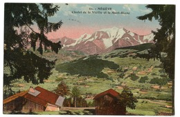 CPA 74 MEGEVE Chalet De La Vieille ( Cachet Perlé COMBLOUX ) 2 Scans - Megève