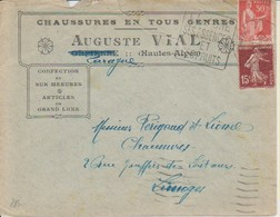 "1937 France 05 Hautes-Alpes Laragne Daguin ""Ses Essences Et Ses Fruits"" (Front And Back Images) - Postmark Collection (Covers)"