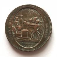 Médaille Bronze. Vivre Libre Ou Mourir. 14 Juillet 1790. Cérémonie Du Pcte Fédératif. F. Dupré. Diam. 39 Mm - 28 Gr. - Professionals / Firms