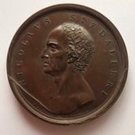 Médaille Bronze. Nicolas Spedalieri. Prêtre Théologien Et Philisophe. Mercandetti 1809. Diam. 67 Mm - 147 Gr - Professionals / Firms