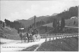 SUISSE - ROUTE DE SAINTE CROIX à L'AUBERSON - VD Vaud