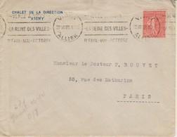 """1927 France 03 Allier Vichy """"Venez A Vichy - La Reine Des Villes"""" - Postmark Collection (Covers)"""