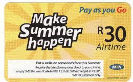 Afrique Du Sud,SOUTH AFRICA, R 30 Airtime Voucher, MTN - Afrique Du Sud
