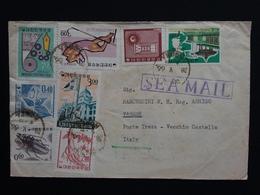 COREA DEL SUD - Lettera Inviata In Italia Via Mare Con Annulli Arrivo + Spese Postali - Korea, South