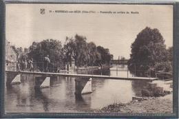 Carte Postale 21. Mirebeau-sur-Bèze  Pêcheurs Sur La Passerelle En Arrière Du Moulin  Très Beau Plan - Mirebeau