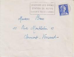 "1958 France 01 Ain Divonne Les Bains Flamme ""Station De Repos"" - Postmark Collection (Covers)"