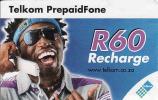 Afrique Du Sud-South Africa, Telkom PrepaidFone Recharge R60 - Afrique Du Sud