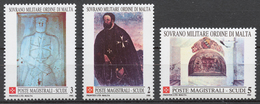 SMOM 1988 Sas# 288-90** HISTORIC FRESCOES - Malte (Ordre De)