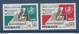 Monaco - YT N° 703 Et 704 - Neuf Avec Charnière - 1966 - Monaco