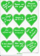 Stickers  1 Stuks Hartjes - Autres Collections
