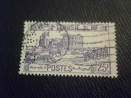 TUNISIE TUNISIA TIMBRE STAMP 295 SM19 PERFORE PERFORES PERFIN PERFINS PERFORATION LOCHUNG PERCE PERFO PERFORATI - Tunisie (1888-1955)