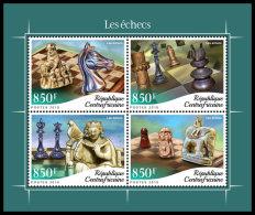 CENTRAL AFRICA 2018 MNH** Chess Schach Echecs M/S - OFFICIAL ISSUE - DH1841 - Schaken
