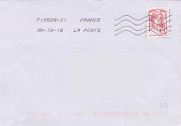 Toshiba 71052A-01 Du 09-10-18 (nouveau Numéro ROC Nouveau Centre) - Marcophilie (Lettres)