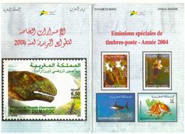 19 Timbres Du Maroc. 2004. Emissions Spéciales. Année Complète. - Maroc (1956-...)