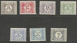 Belgian Congo - 1923 Postage Due Fresh  MH *    Sc J1-7 - Belgian Congo