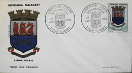 MADAGASCAR - 1er JOUR 1965 - Armoiries - Daté : Diego-Suarez 27.1.1965 - TBE - Madagascar (1960-...)
