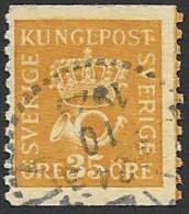 Schweden, 1921, Michel-Nr. 189 I, WA, Gestempelt - Gebruikt