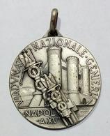 NAPOLI - V^ ADUNATA GENIERI A.N.A.G (1937 - A. XV) Metallo Bianco / 33mm / Opus: Morbiducci - Italia
