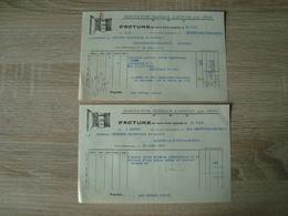 LOT DE 2 FACTURES A.ROBERT ARTICLES POUR FETES TAIN-L'HERMITAGE 1929 - France