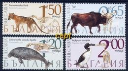 Fauna - Extinct Animal Species  – Bulgaria / Bulgarie 2018 – Set MNH** - Stamps