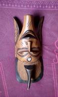 Masque En Bois Sculpté Africain 41 Cm - African Art