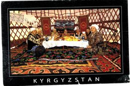 Kirghizistan - Kyrgyzstan Old Friends Gather In A  Yurt To Chat Over Bread, Tea & Snacks - ! TEAR - Kyrgyzstan