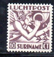 T193 - SURINAME 1930 , Posta Aerea 60 Cent N. Yvert 5  ***   Dent 12 - Suriname ... - 1975