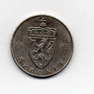 Norvegia - 1985 - 5 Kroner - Vedi Foto - (MW1621) - Norvegia