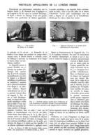 NOUVELLES APPLICATIONS De La LUMIERE FROIDE   1913 - Other