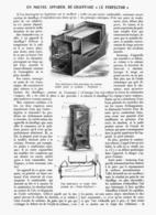 """UN NOUVEL APPAREIL DE CHAUFFAGE """" LE PERFECTOR """"   1913 - Other"""