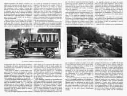 LES PROGRES DES CAMIONS AUTOMOBILES 1913 - Camions