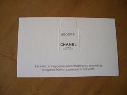 Carte Chanel Egoiste - Modernes (à Partir De 1961)