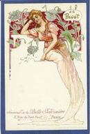 CPA Opium Drogue Pavot Publicité Publicitaire Réclame La Belle Jardinière Art Nouveau Femme Girl Non Circulé - Werbepostkarten