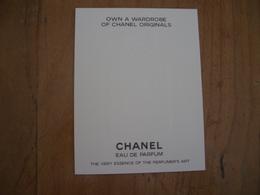Carte Chanel Choix - Modernes (à Partir De 1961)