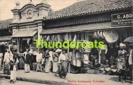 CPA SRI LANKA CEYLON CEYLAN NATIVE BOUTIQUES COLOMBO - Sri Lanka (Ceylon)