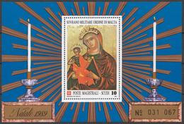 SMOM 1989 Sas# Bl.28** CHRISTMAS - Malte (Ordre De)